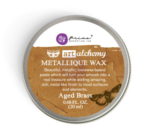 Finnabair Art Alchemy Metallique Wax .68 Fluid Ounce - Aged Brass - Artified Shop