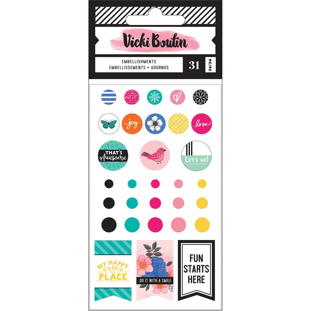 All the Good Things Vicki Boutin Self-Adhesive Finishing Embellishments 31/Pkg - Artified Shop  [product_venor]