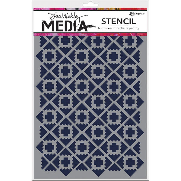 "Almost Ikat Dina Wakley Media Stencils 9""X6"""