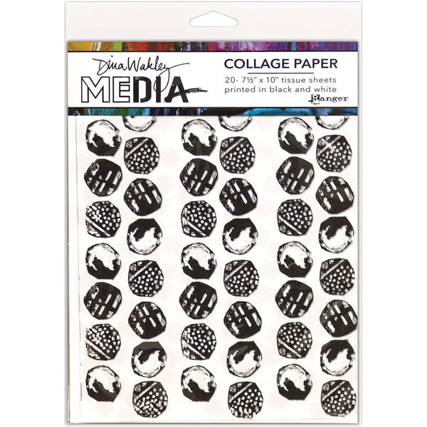 "Backgrounds Dina Wakley Media Collage Tissue Paper 7.5""X10"" 20/Pkg - Artified Shop"