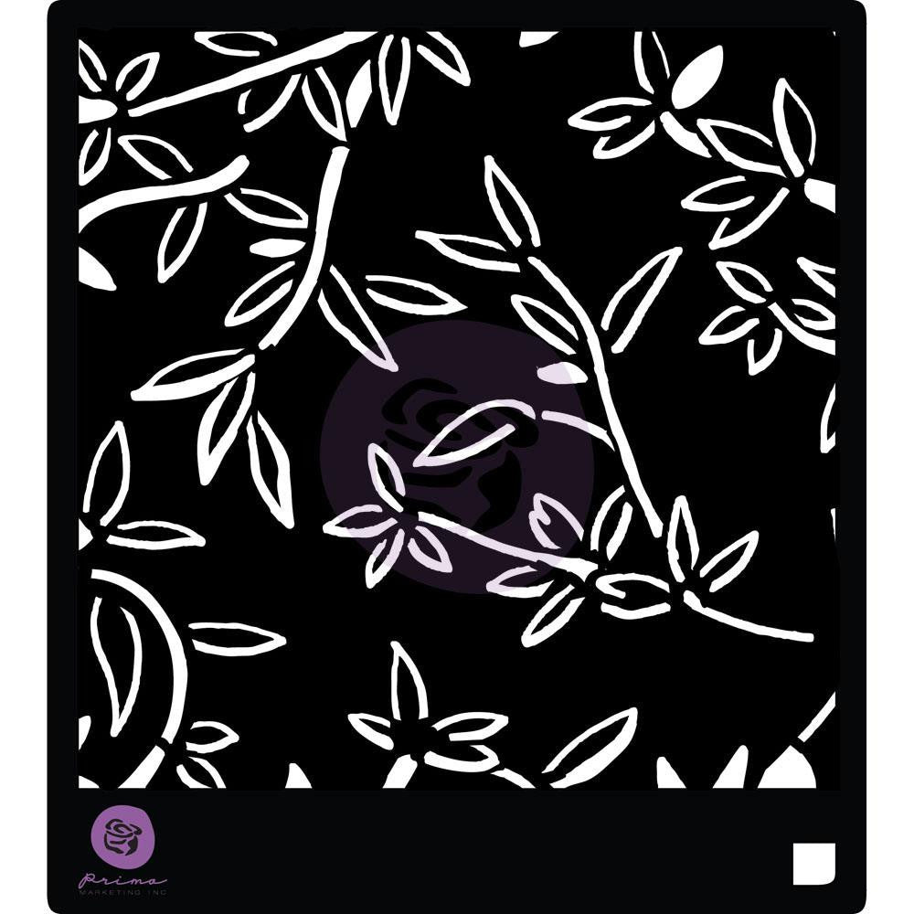 "Prima Designer Stencil 6""X6"" - Bamboo Leaves - Artified Shop"