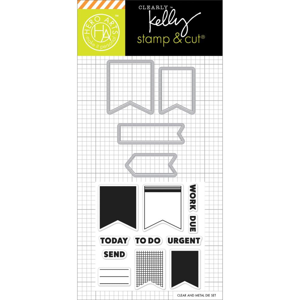 Kelly Purkey Stamp & Cut - Planner Banners