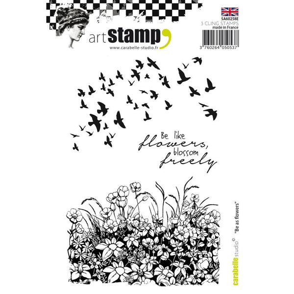 Carabelle Studio Cling Stamp A6 - Be As Flower - Artified Shop