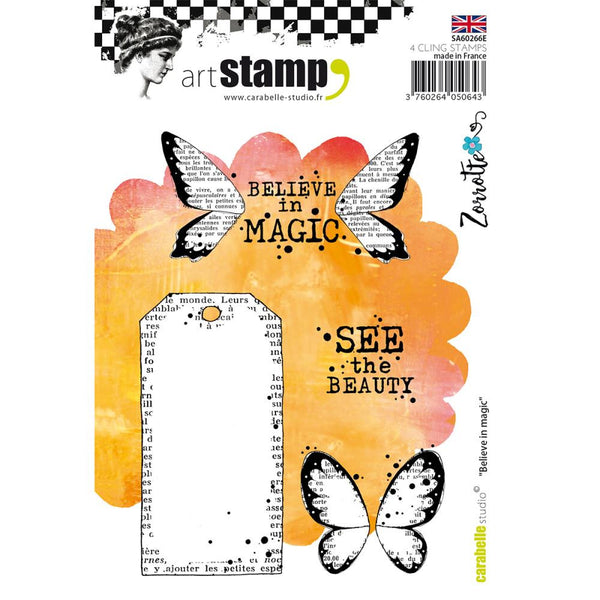 Carabelle Studio Cling Stamp A6 - Believe in Magic