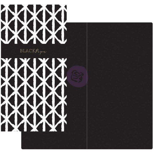 Black & White with Black Paper Prima Traveler's Journal Notebook Refill 32 Sheets - Artified Shop