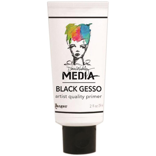 Dina Wakely Media Black Gesso 2oz Tube