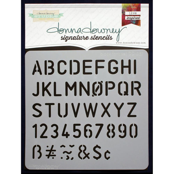 "Block Font Set Donna Downey Signature Stencils 8.5""X8.5"" - Artified Shop  [product_venor]"