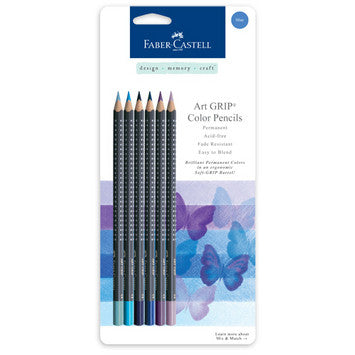Blue - Mix & Match Art GRIP Color Pencils 6/Pkg - Artified Shop