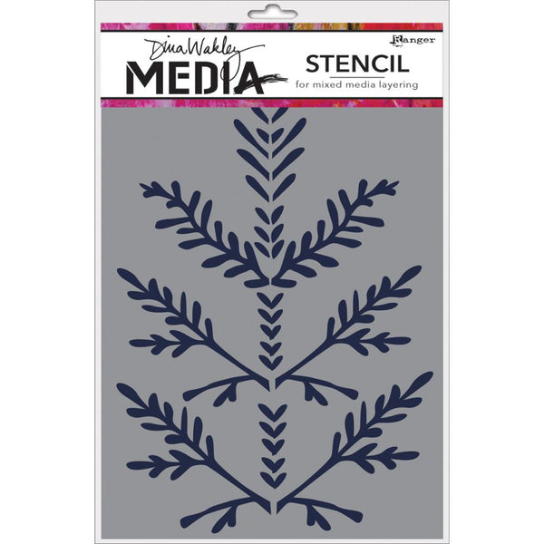 "Boughs Dina Wakley Media Stencils 6""X9"" - Artified Shop"