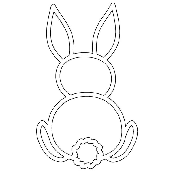 "Bunny Crafter's Workshop Fragments Templates 4""X4"""