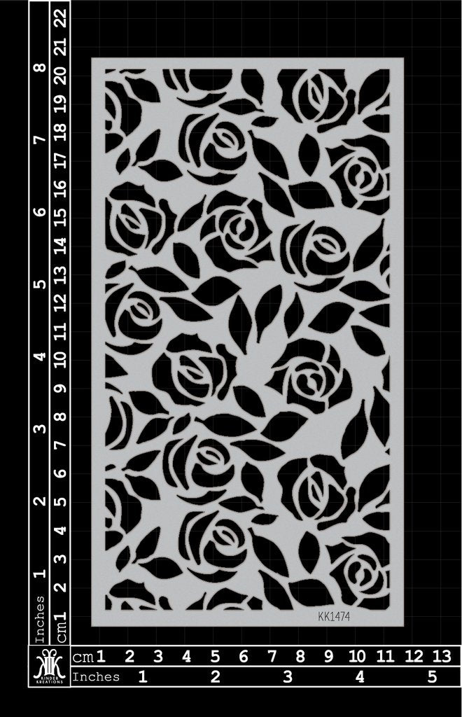 Cascading Roses Kinder Kreation Stencil - Artified Shop