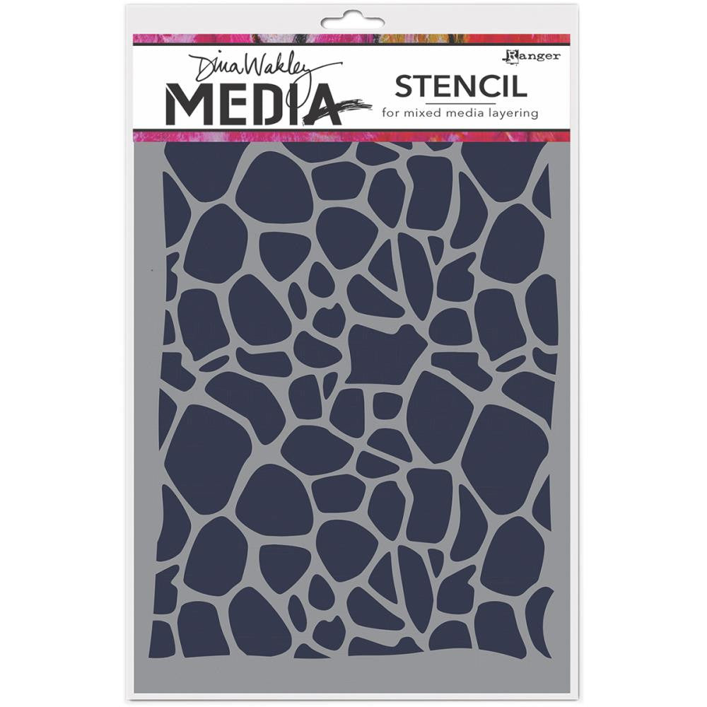 "Dina Wakley Media Stencils 9""X6"" - Cellular - Artified Shop"