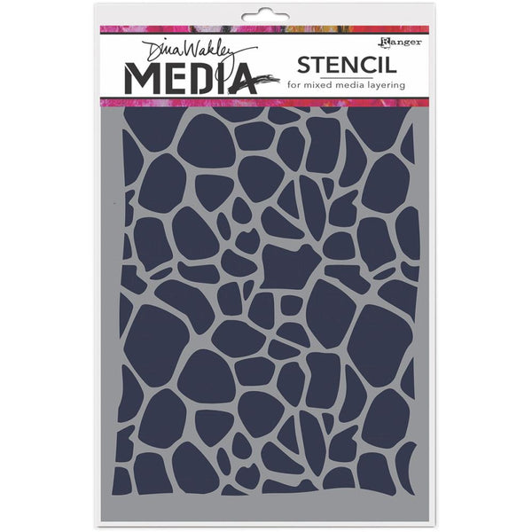 "Dina Wakley Media Stencils 9""X6"" - Cellular"