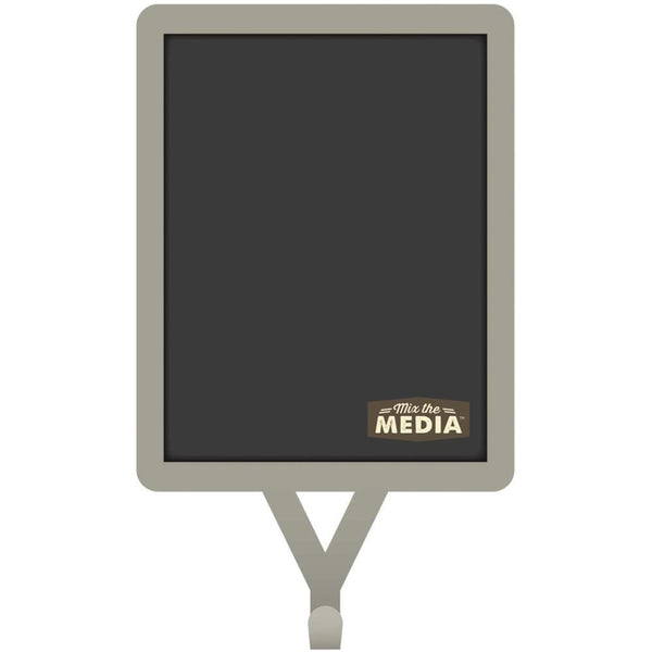 "Mix The Media Chalkboard 6.5""X3.5"" W/Galvanized Frame & Hook"