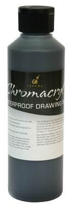 CHROMA BLACK DRAWING INK 250ml. - Artified Shop