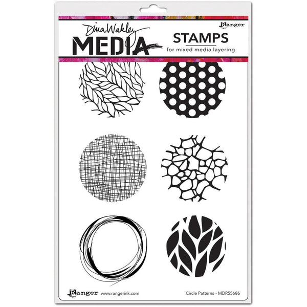 "Dina Wakley Media Cling Stamps 6""X9"" - Circle Patterns - Artified Shop"