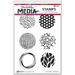 "Dina Wakley Media Cling Stamps 6""X9"" - Circle Patterns"