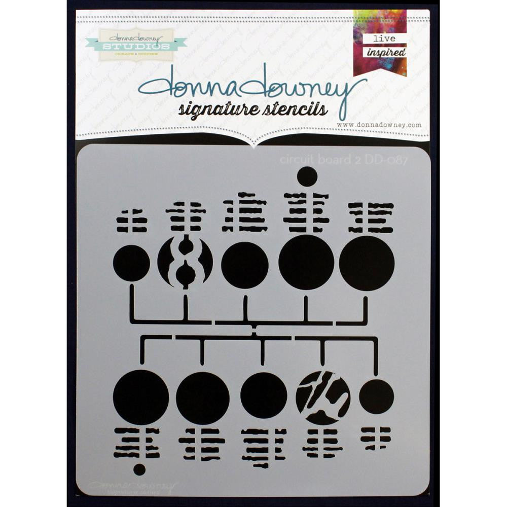 "Circuit Board 2 Donna Downey Signature Stencils 8.5""X8.5"""