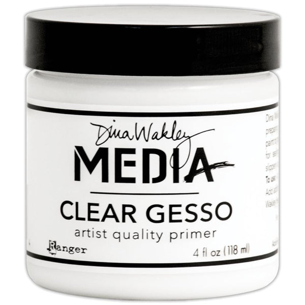 Dina Wakley Media Mediums Clear Gesso 4oz Jar - Artified Shop