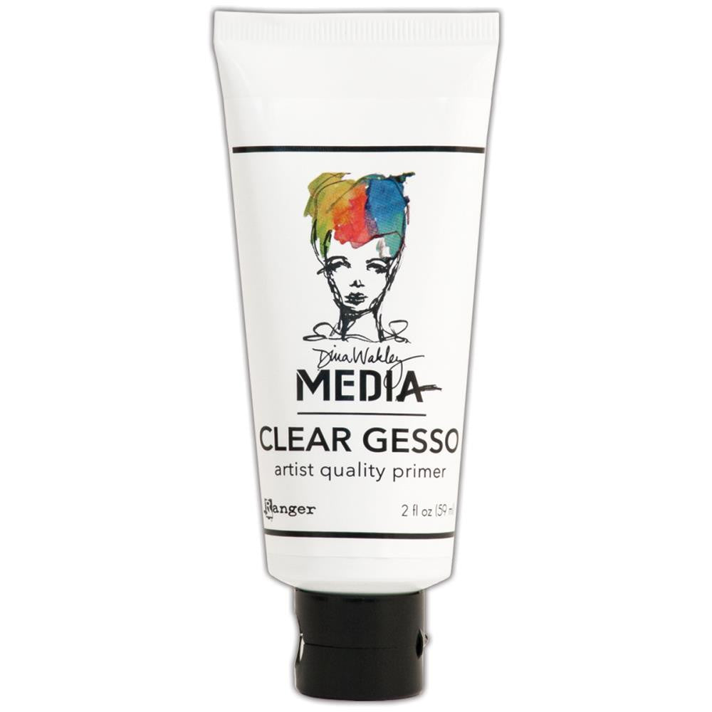 Dina Wakley Media Mediums Clear Gesso 2oz Tube