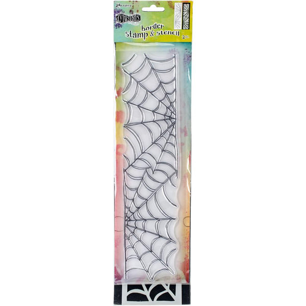 "Dyan Reaveley's Dylusions Clear Stamp & Stencil Set 12"" - Cobweb - Artified Shop"
