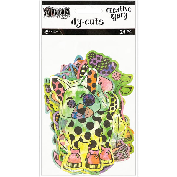 Coloured Animals Dyan Reaveley's Dylusions Creative Dyary Die Cuts