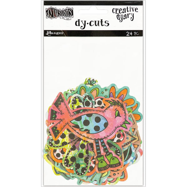 Coloured Birds & Flowers Dyan Reaveley's Dylusions Creative Dyary Die Cuts
