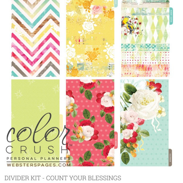 Count your Blessings Color Crush Personal Planner Divider Set Kit
