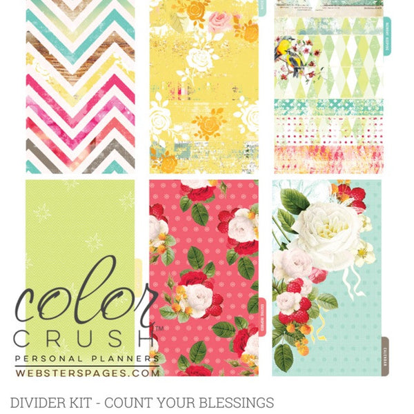 Count your Blessings Color Crush Personal Planner Divider Set Kit - Artified Shop