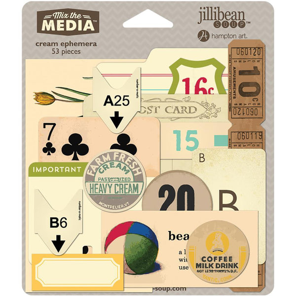 Cream Mix The Media Ephemera Pack - Artified Shop