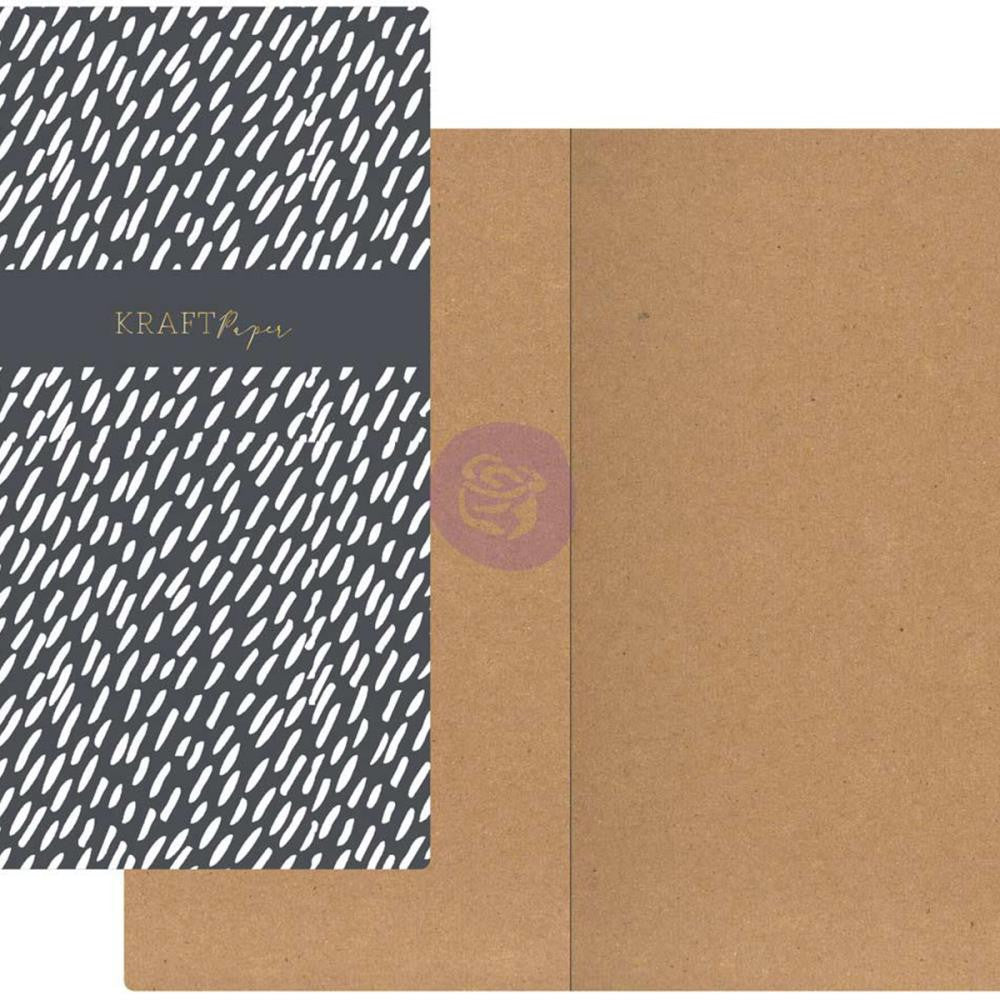 Dashes with Kraft Paper Prima Traveler's Journal Notebook Refill 32 Sheets - Artified Shop