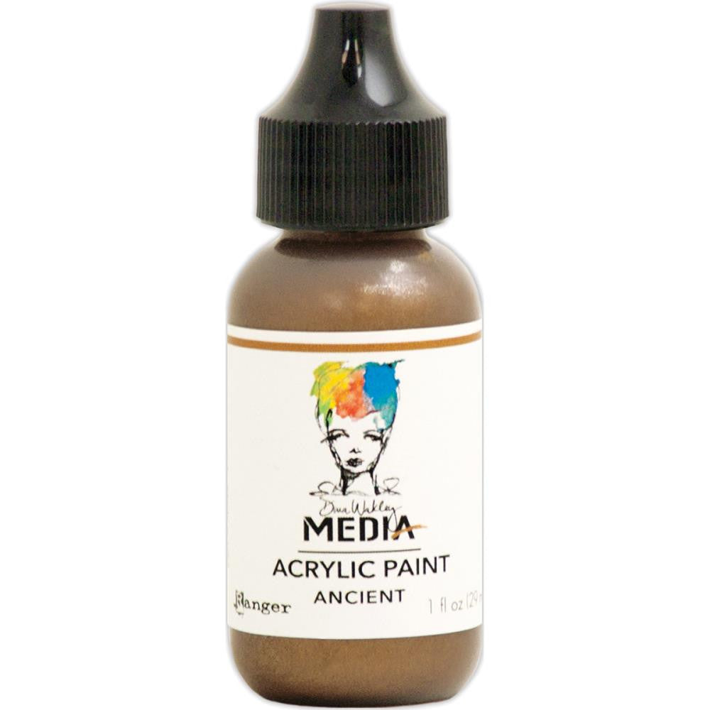 Dina Wakley Media Heavy Body Metallic Acrylic Paint 1oz - Ancient - Artified Shop
