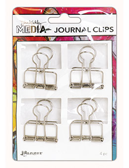 Dina Wakley Media Journal Clips 4/Pkg - Artified Shop