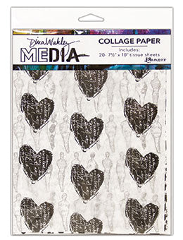 "Dina Wakley Media Tissue Pack 7.5""X10"" 20/Pkg 10 Printed/10 Plain - Artified Shop"