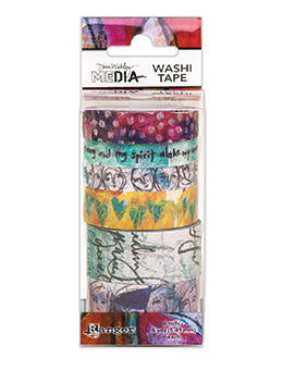 Dina Wakley Media Washi Tape #1-6 Rolls - Artified Shop