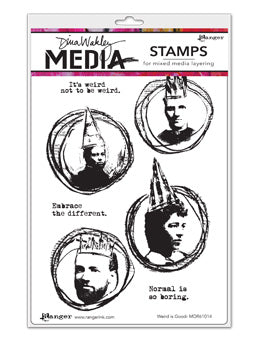 "Dina Wakley Media Cling Stamps 6""X9"" Weird Is Good - Artified Shop"