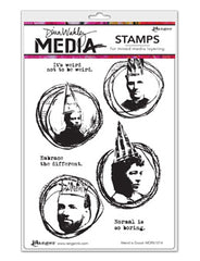 "Dina Wakley Media Cling Stamps 6""X9"" Weird Is Good"