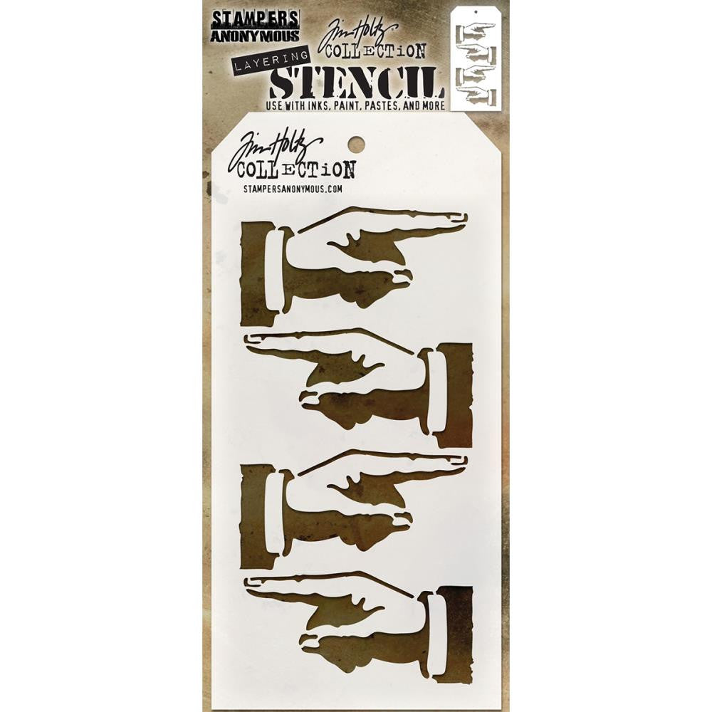 "Tim Holtz Layered Stencil 4.125""X8.5"" - Direction - Artified Shop"