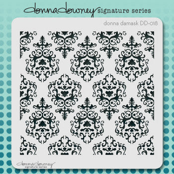 Donna Damask Stencil - Donna Downey - Artified Shop