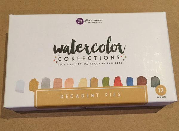 Decadent Pies Prima Watercolor Confections Watercolor Pans 12/Pkg