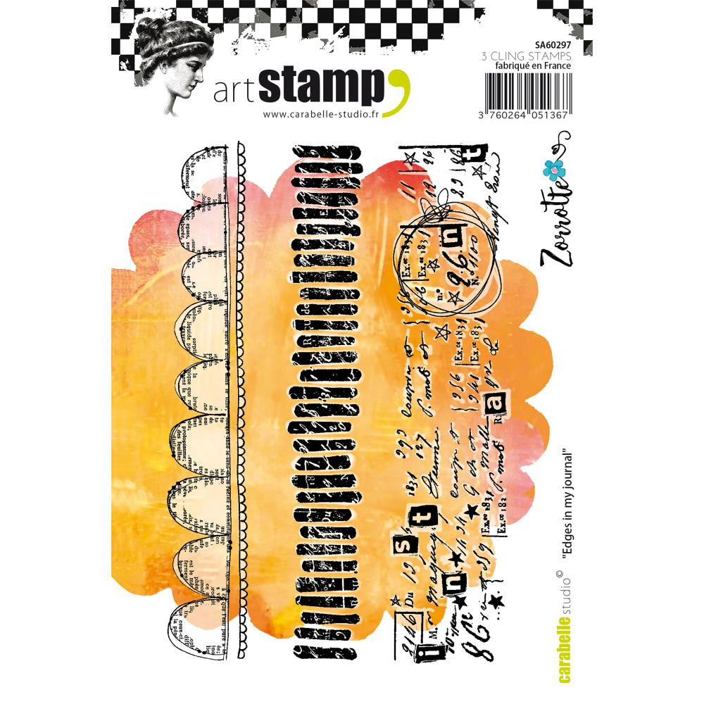 Edges in my Journal Carabelle Studio Cling Stamp A6 By Zorrotte - Artified Shop