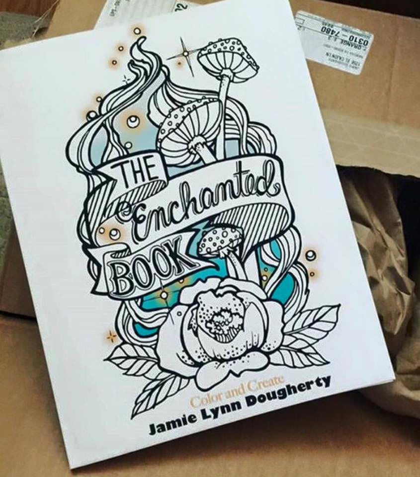 The Enchanted Forest Adult Coloring Book by Jamie Dougherty - Artified Shop