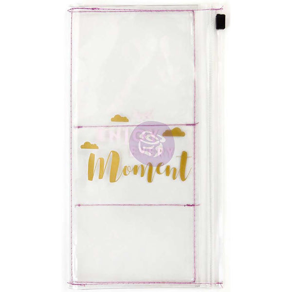 Enjoy Every Moment Prima Traveler's Journal Clear Pouch - Artified Shop