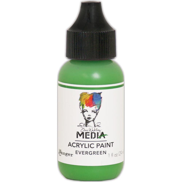 Dina Wakley Media Heavy Body Acrylic Paint 1oz - Evergreen