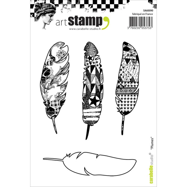 Carabelle Studio Cling Stamp A6 - Feathers - Artified Shop
