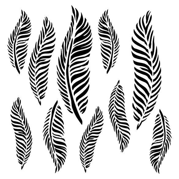 Feathers Stencils - 13arts