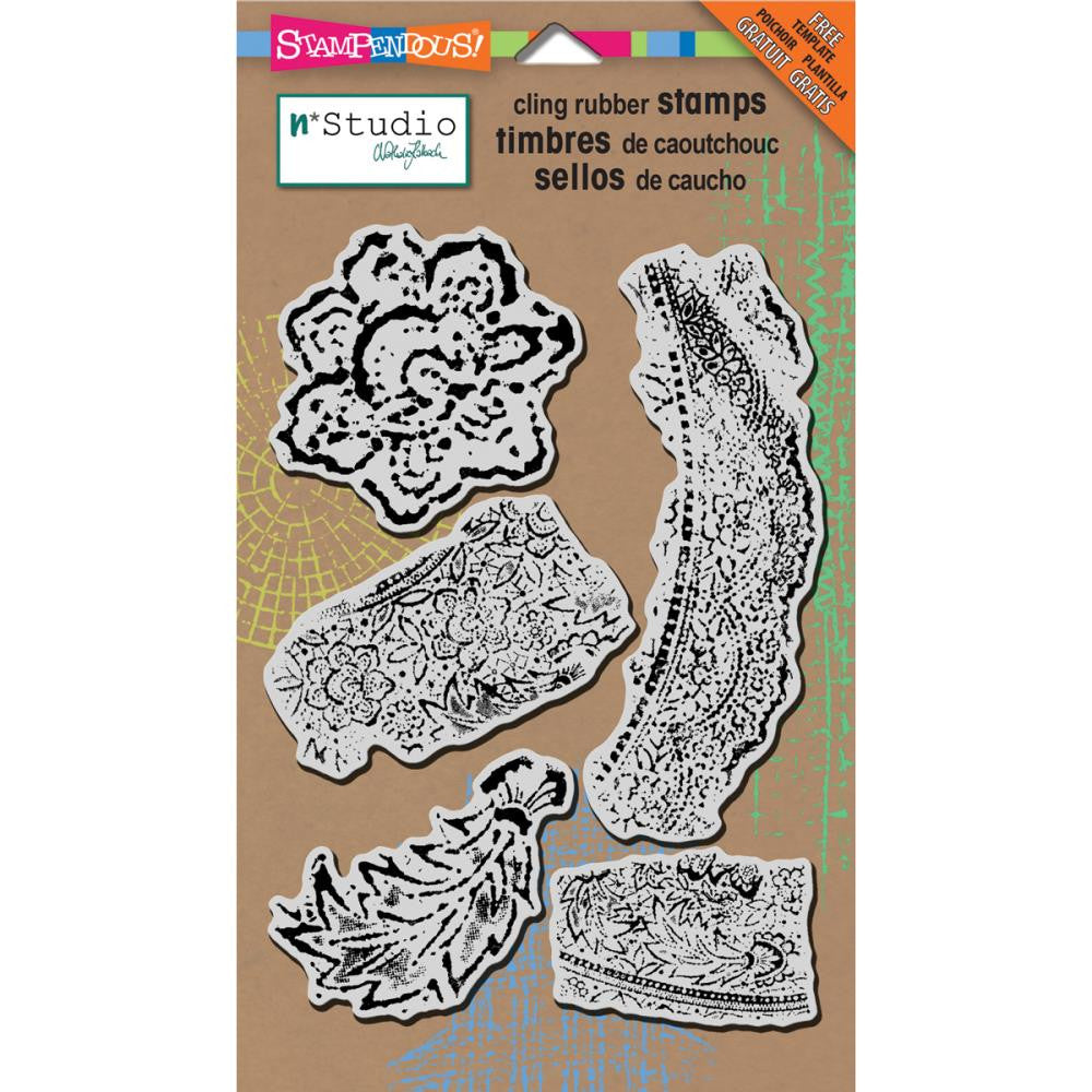 "Fiesta Stampendous N*studio Cling Stamp & Stencil 5""X7"" Sheet - Artified Shop"
