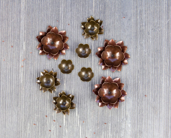 Finnabair Mechanicals Metal Embellishments - Lotus - Artified Shop