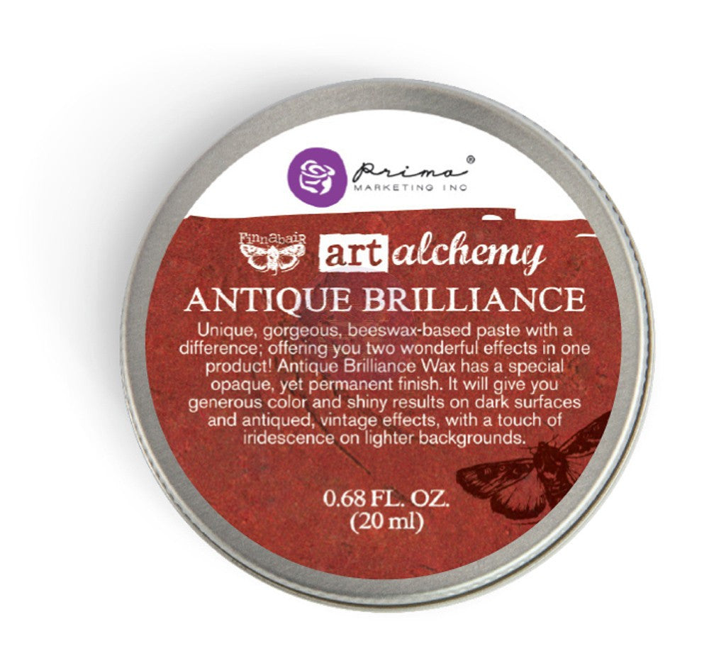 Finnabair Art Alchemy Antique Brilliance Wax .68 Fluid Ounce - Fire Ruby - Artified Shop