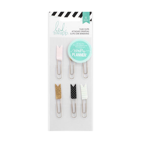 Flag Paper Clips Heidi Swapp Hello Beautiful Embellishments 6/Pkg